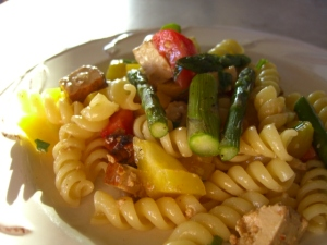 Tarragon Pasta with Roasted Asparagus -- Epicurean Vegan