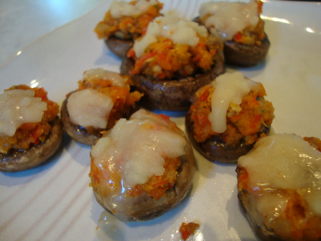 Stuffed Mushrooms -- Epicurean Vegan