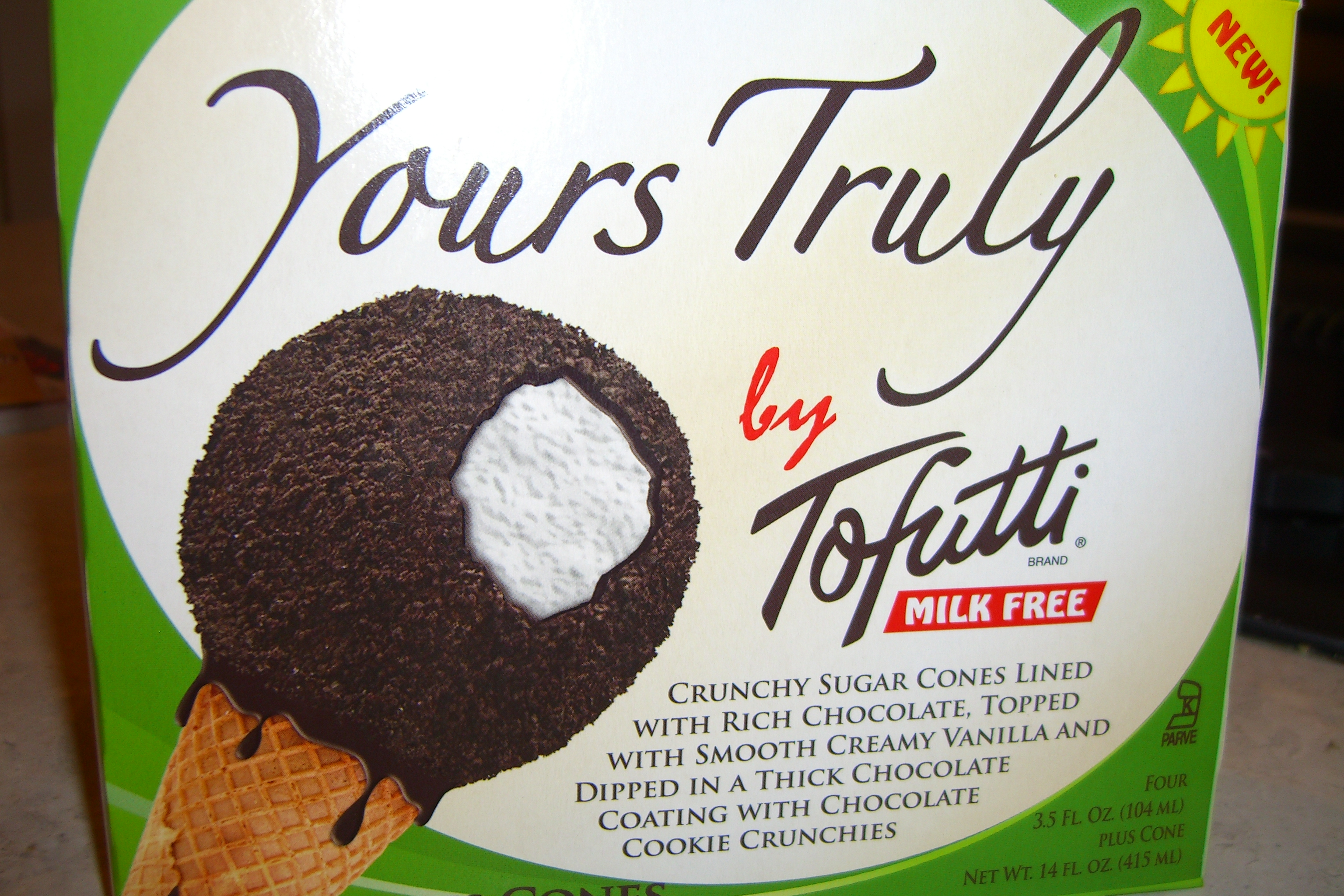 Product Review Tofutti Yours Truly Cones Epicurean Vegan