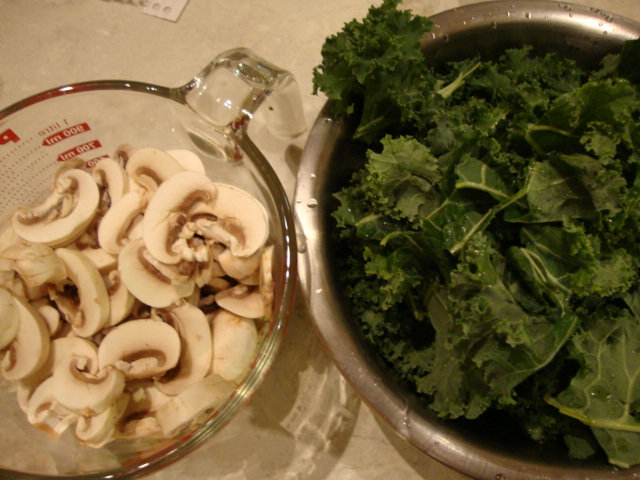 ... begin to brown. Add the mushrooms, kale, fennel, salt, and pepper