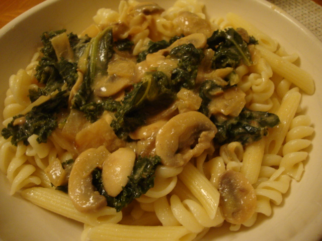 Mushroom and Kale Stroganoff -- Epicurean Vegan