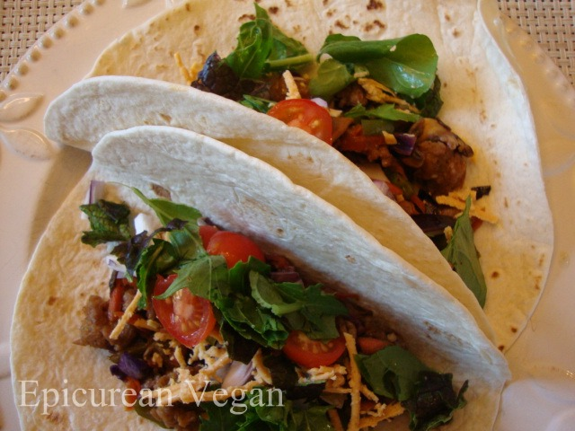 Veggie BBQ Tacos -- Epicurean Vegan