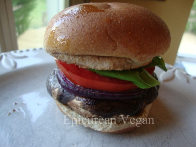 Grilled Portobello Burgers -- Epicurean Vegan
