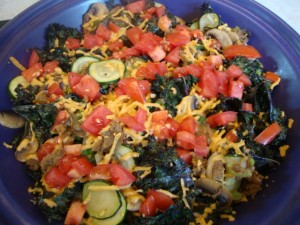 Zucchini and Kale Breakfast Frittata -- Epicurean Vegan