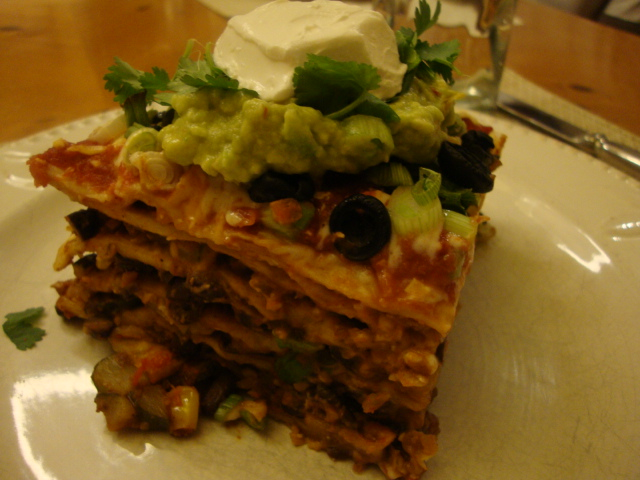 Tortilla Lasagna -- Epicurean Vegan