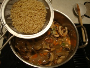 Mushroom Barley Soup -- Epicurean Vegan
