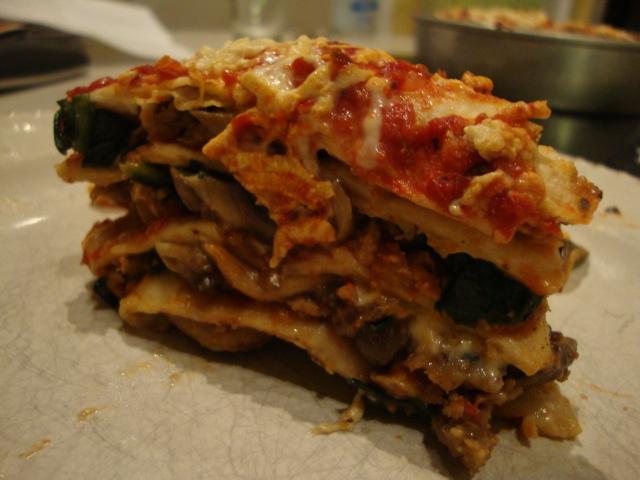 Layered (Deep Dish) Pizza -- Epicurean Vegan