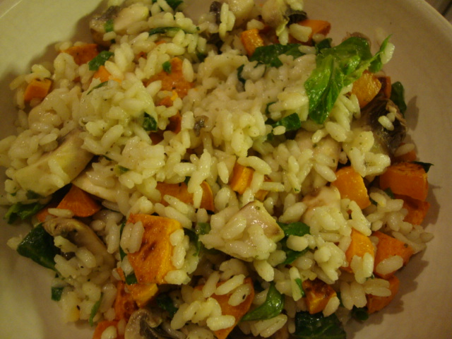 Lemon Risotto with Sweet Potatoes and Spinach -- Epicurean Vegan