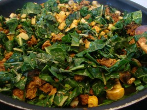 Chard and Field Roast Skillet -- Epicurean Vegan