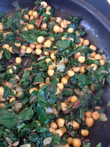 Lemony Pan-Fried Chickpeas with Chard -- Epicurean Vegan