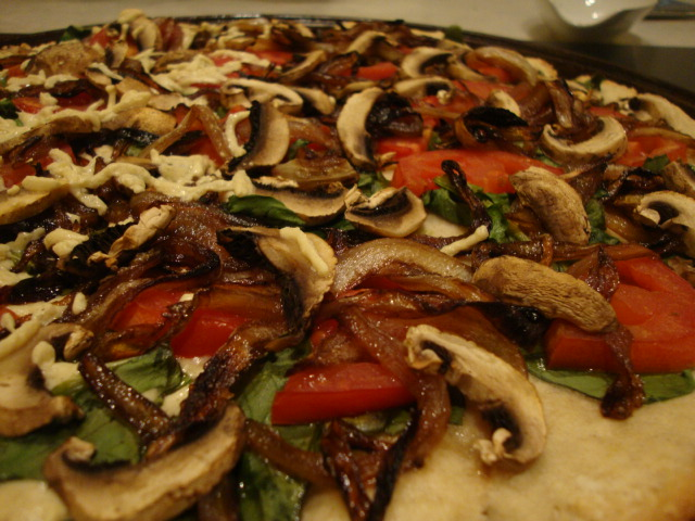 Gluten and Soy-Free Pizza with Caramelized Onions -- Epicurean Vegan