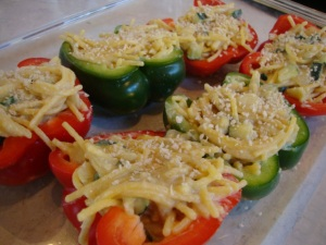 Gluten-Free Tetrazzini-Stuffed Peppers -- Epicurean Vegan