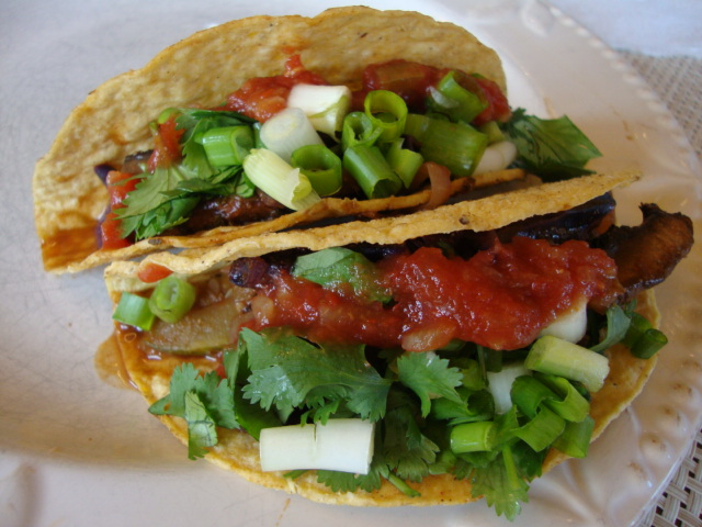 Cabbage and Portobello Tacos -- Epicurean Vegan