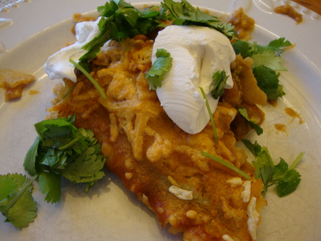 Avocado and Pinto Bean Enchiladas -- Epicurean Vegan