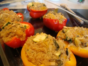 Quinoa-Mandarin Stuffed Peppers -- Epicurean Vegan