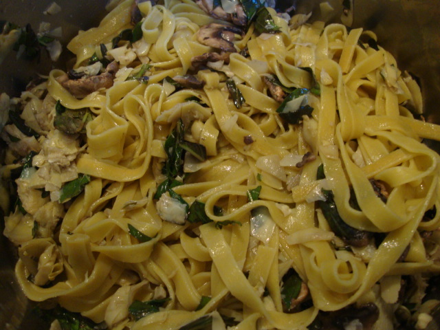 Artichoke and Lemon Linguine -- Epicurean Vegan