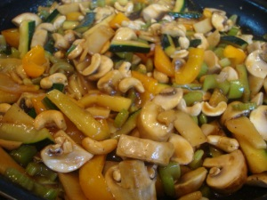 Cashew Stir-fry with Noodles -- Epicurean Vegan
