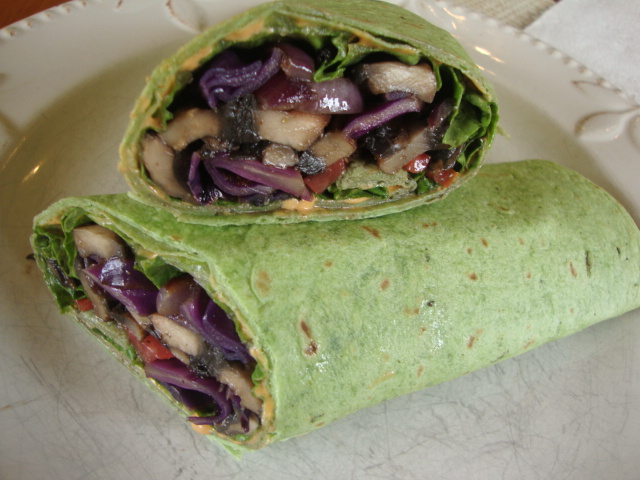 Portobello Wraps -- Epicurean Vegan