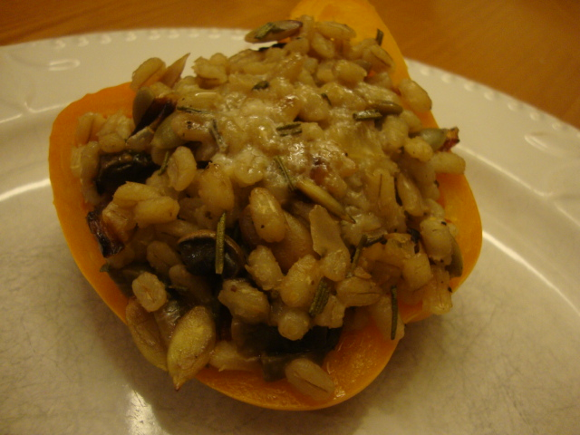 Mushroom and Barley-Stuffed Peppers -- Epicurean Vegan