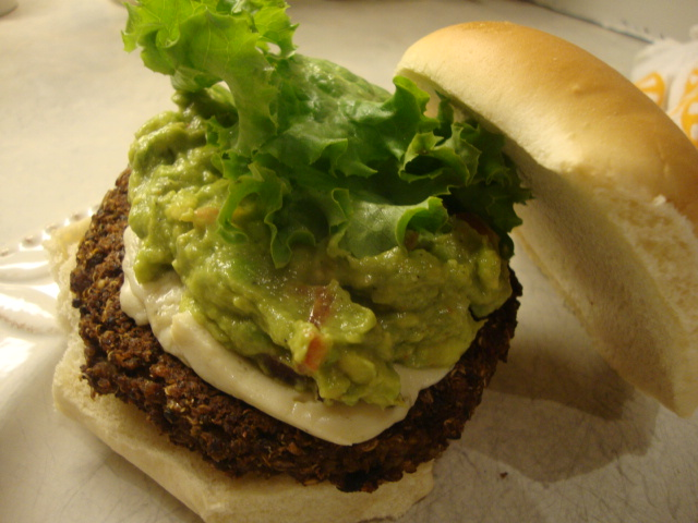 Quinoa and Black Bean Burgers with Guacamole -- Epicurean Vegan