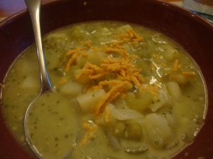 Pesto-Potato Soup -- Epicurean Vegan