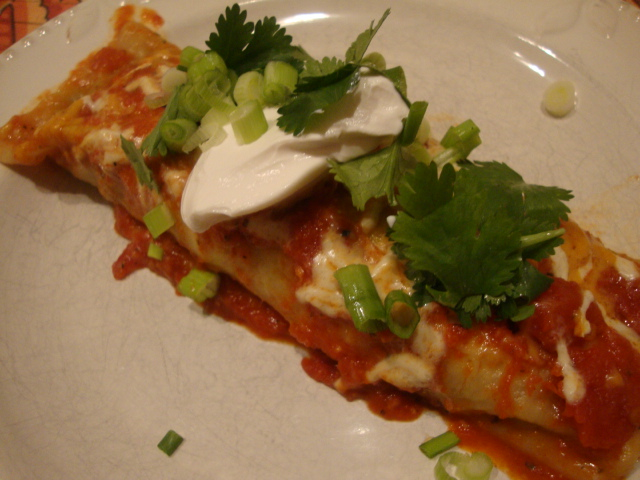 Field Roast & Spinach Enchiladas -- Epicurean Vegan