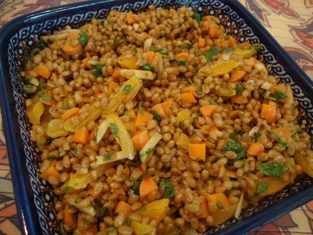 Cinnamon-Soaked Wheat Berry Salad -- Epicurean Vegan