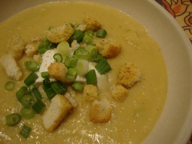 Potato-Leek Chowder -- Epicurean Vegan