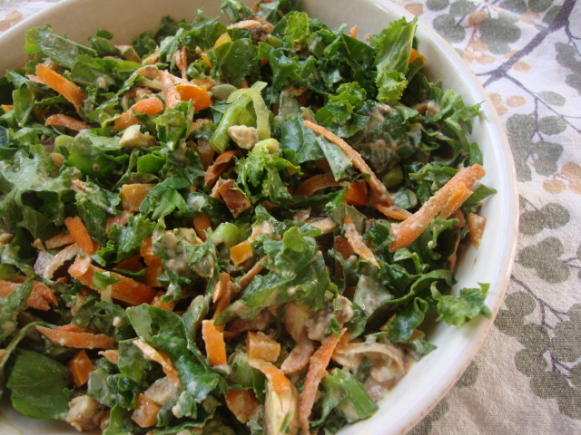 Immune-Boosting Salad with Baked Tempeh -- Epicurean Vegan