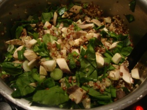 Quinoa with Walnuts & Spinach -- Epicurean Vegan