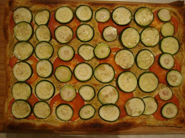 Zucchini, Tomato & Ricotta Tart -- Epicurean Vegan