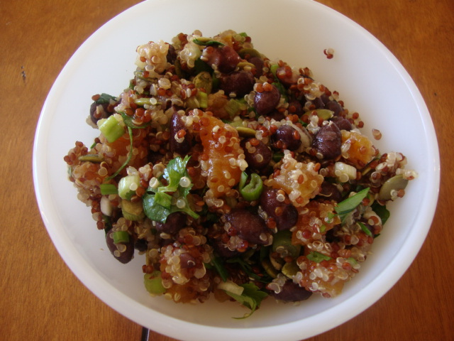 Quinoa with Dried Apricots & Black Beans -- Epicurean Vegan