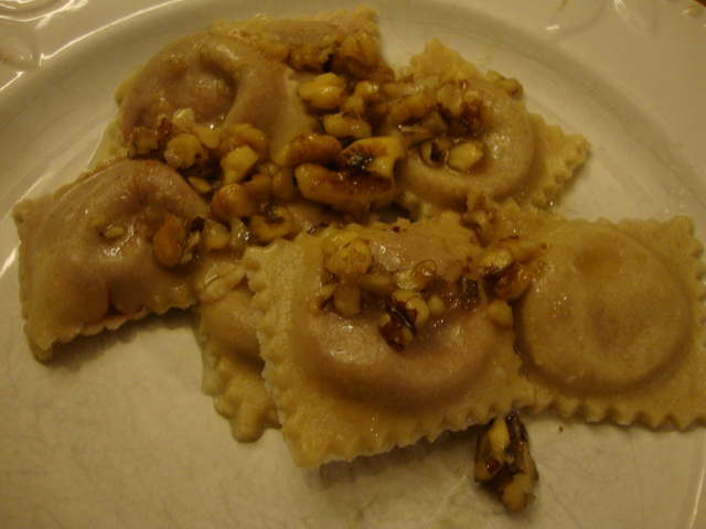 Beet Ravioli with a Garlic-Butter Walnut Sauce -- Epicurean Vegan