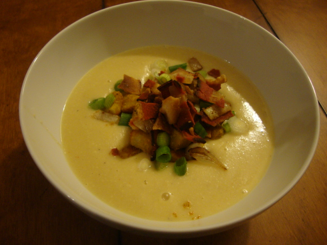 Creamy Baked Potato Soup -- Epicurean Vegan