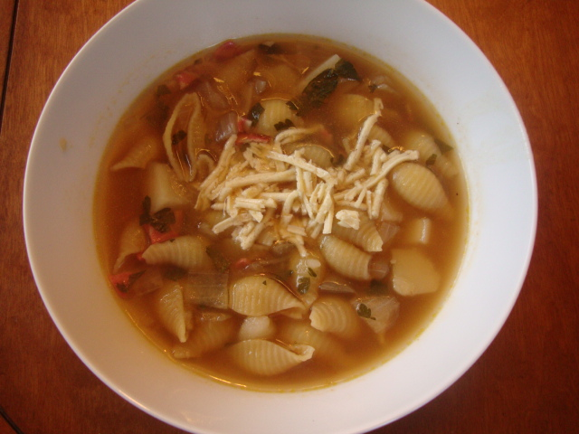 Roman Pasta Soup with Potatoes -- Epicurean Vegan