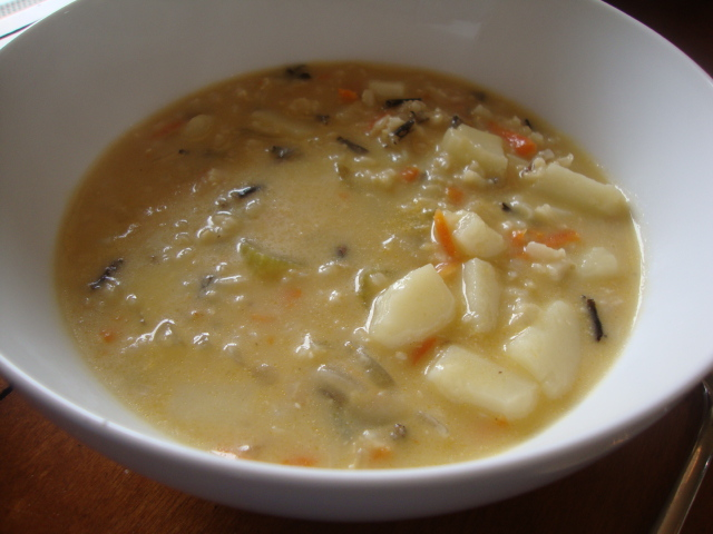 Creamy Wild Rice Soup -- Epicurean Vegan