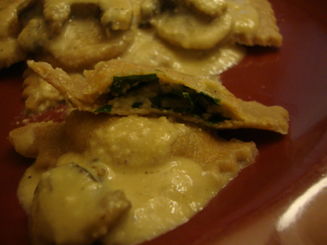 Alfredo Ravioli -- Epicurean Vegan