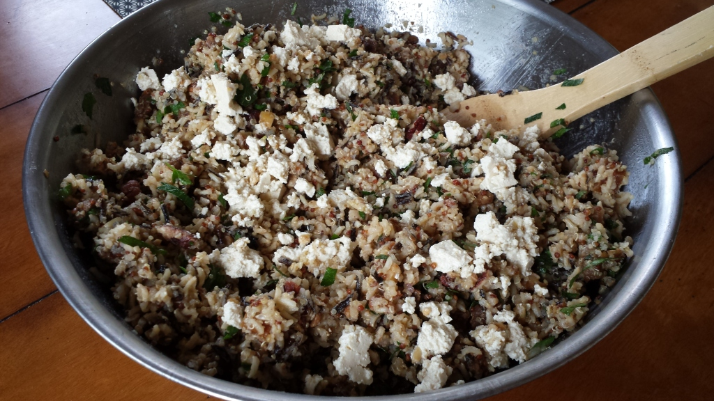 "Quinoa-Rice Salad with Tempeh and ""Feta"" -- Epicurean Vegan"
