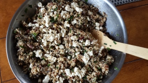 "Quinoa-Rice Salad with Tempah and ""Feta"" -- Epicurean Vegan"