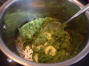 Homemade Fettuccine with a Pesto-Butter Sauce -- Epicurean Vegan