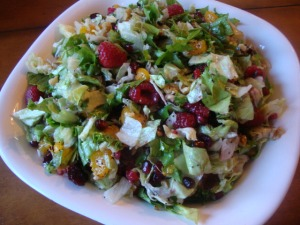 Summertime Fruit and Greens Salad -- Epicurean Vegan