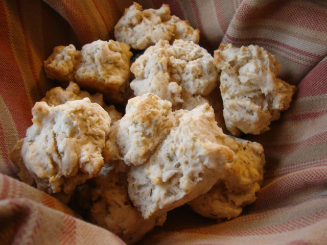 Rosemary Drop Biscuits -- Epicurean Vegan
