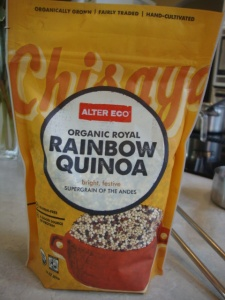 Alter Eco Rainbow Quinoa, Quinoa and Veggies with a Tahini Miso Dressing -- Epicurean Vegan