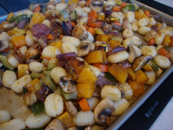 Gnocchi with Roasted Vegetables -- Epicurean Vegan