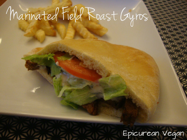 Marinated Field Roast Gyros -- Epicurean Vegan