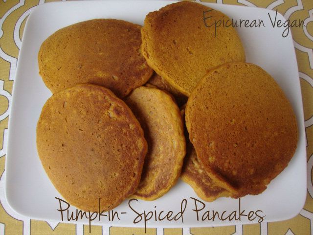 Pumpkin-Spice Pancakes -- Epicurean Vegan