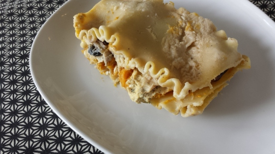 Butternut Squash and Mushroom Lasagna -- Epicurean Vegan