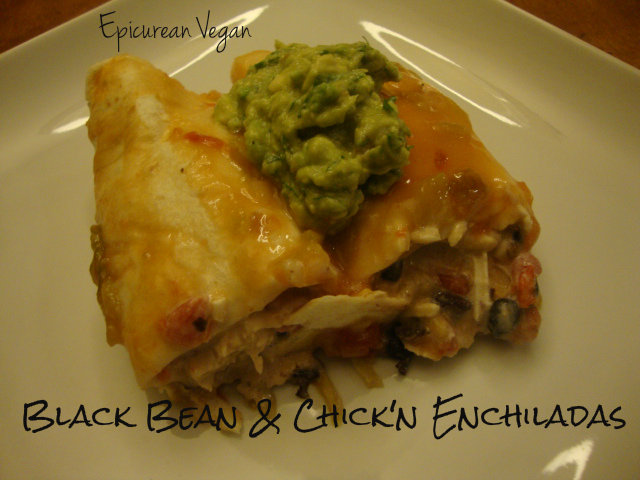 Black Bean and Chick'n Enchiladas -- Epicurean Vegan