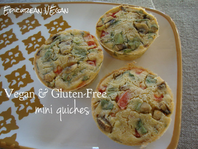 Vegan & Gluten-Free mini quiches